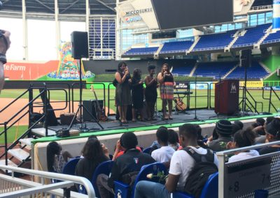 Guitars Over Guns Leadership Miami Marlins graduation ceremony 10