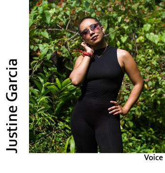 Justine Garcia, Voice